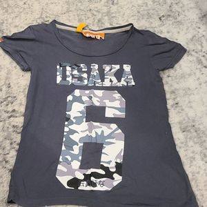 Superdry grey with camo tshirt